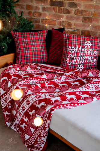 Farm-house Christmas Blanket