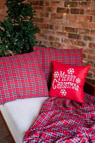 Tartan Throw & Continental Pillow Cases || Sold by YourMama