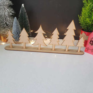 Christmas trees table centerpiece