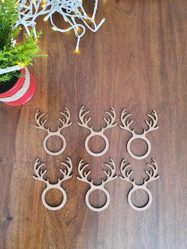 Reindeer antlers napkin rings for napkins