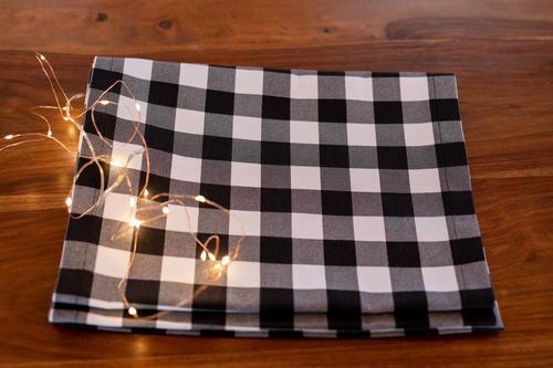 Black & White Christmas Table Runner