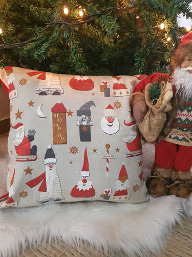 Many Santa's Christmas Cushion
