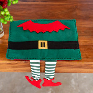 Elf Placemat with Hanging Legs