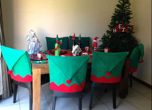 Elf hat Christmas chair cover