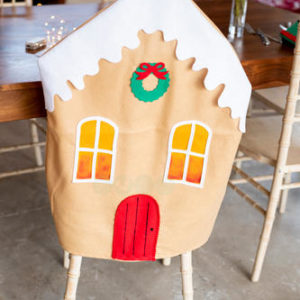 Sprinkles Gummy-Biscuit Chair Cover (Gingerbread House)