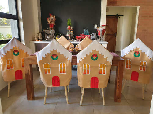 Gingerbread house chair cover