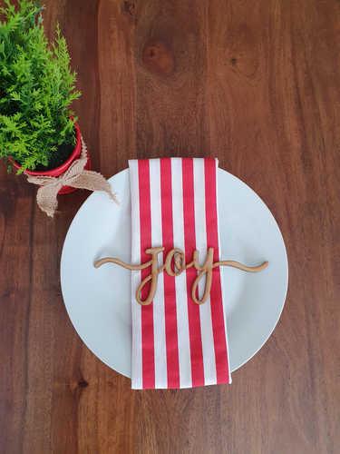 Joy wooden plate sign