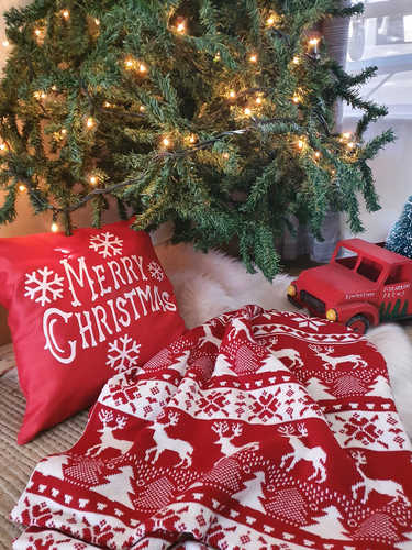 Red Merry Christmas cushion
