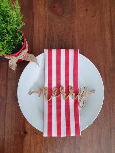 Merry wooden plate sign