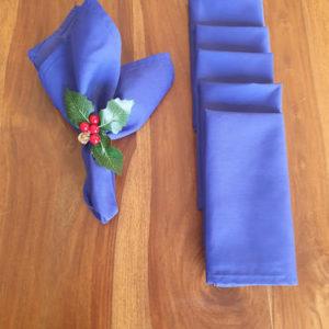 Royal or Navy Blue Christmas napkins
