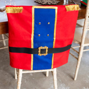 Twinkle Pepper-Buttons Chair Cover (Nutcracker Suit)