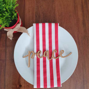Peace wooden plate sign