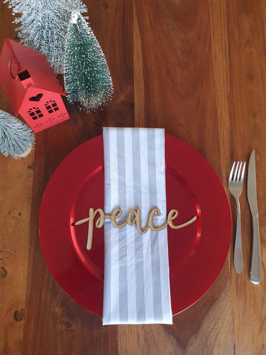 Peace Wooden Plate Signs
