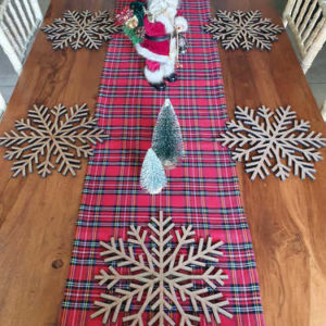 Wooden snowflake Christmas placemat
