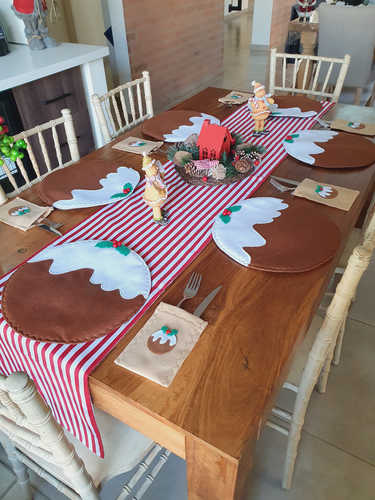 Christmas pudding placemat