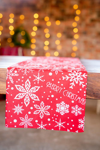 Red Merry Christmas tablecloth