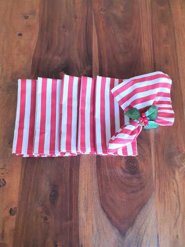 Red & white Christmas napkin