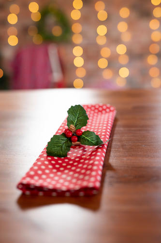 Red and white polka dot Christmas napkins
