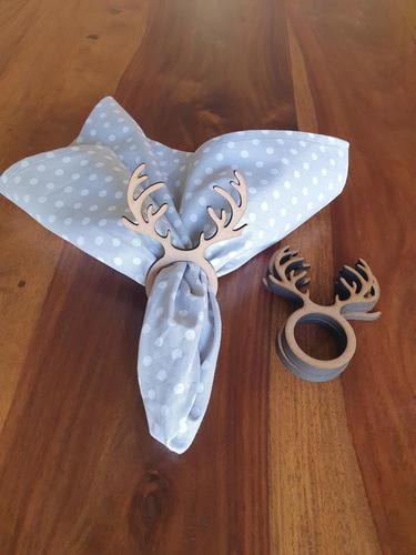 Reindeer antlers napkin rings