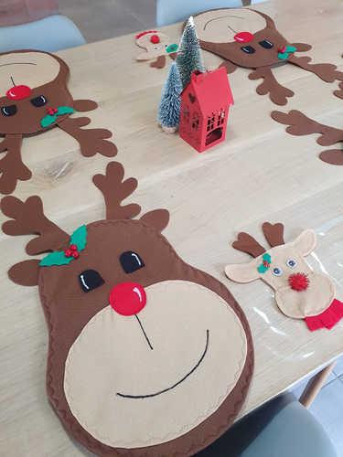 Reindeer cutlery holder / bag