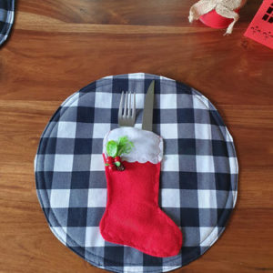 Black and White Christmas Placemat