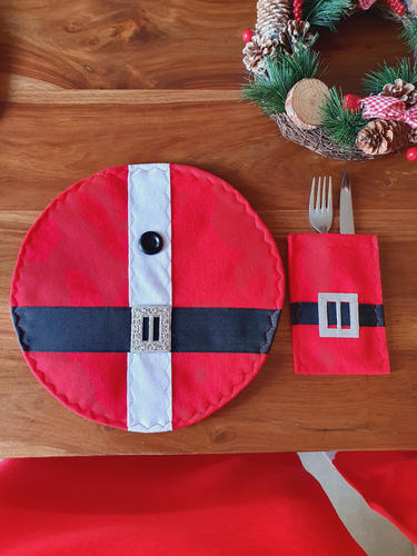 Round Santa Belly Placemat