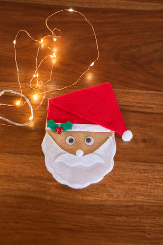 Santa Face cutlery bag