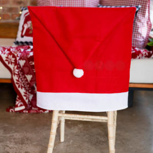 Merry Jingle-Head Chair Cover (Santa Hat)