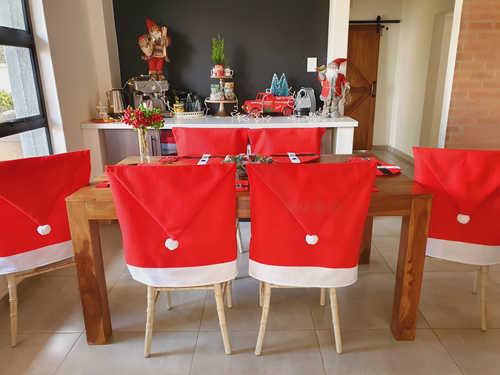 Santa hat chair cover