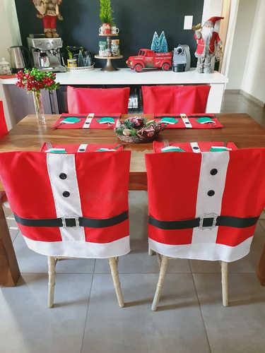 Santa suit chair cover