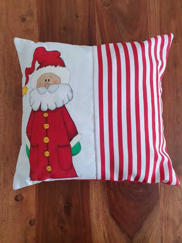 Santa hand painted cushion
