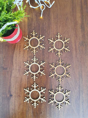 Snowflake napkin rings