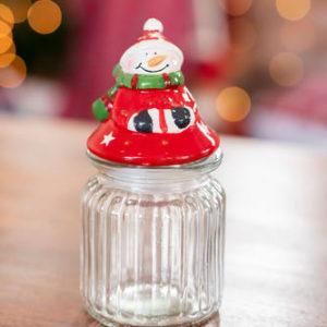 Snowman Candy Jar
