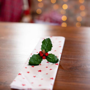 Star napkin for table