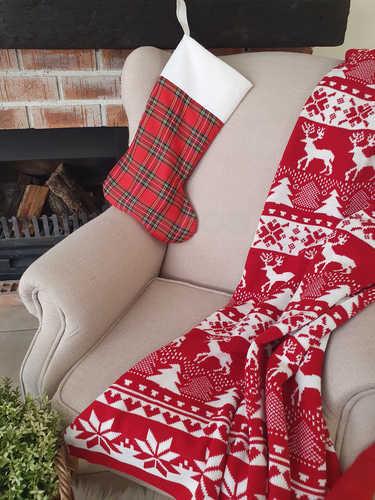 Tartan stocking to hang