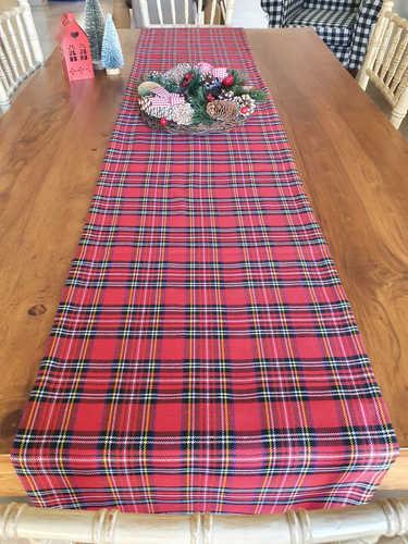 Tartan Christmas table runner