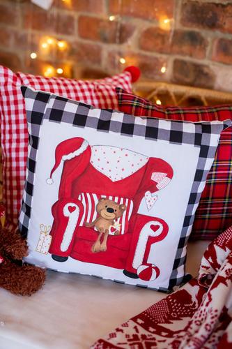 Teddy Bear Sitting on Santa's Chair